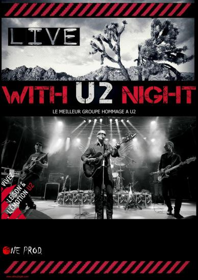 Affiche with u2 nightred